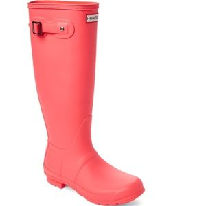 HUNTER Original Tall Waterproof Rain Boot Pink